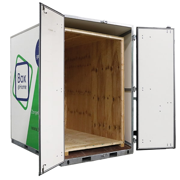 A Medium Box from Box@Home with open doors and opened wooden inner box