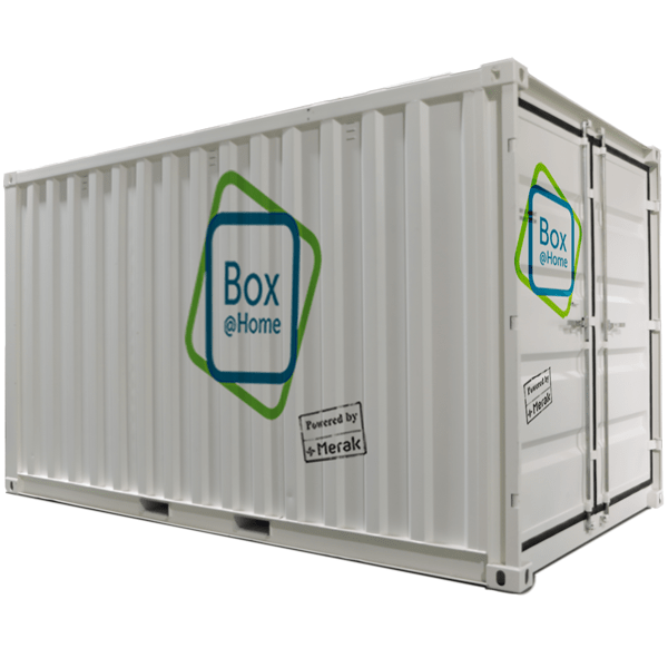 An XXL Box from Box@Home with a storage volume of 24m³